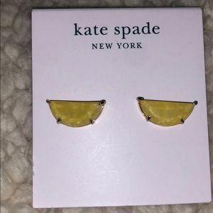 Kate Spade yellow lemon earrings